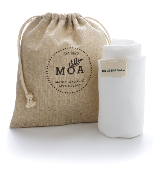 Magic Organic Apothecary Bamboo Face Cloth & Hemp Bag