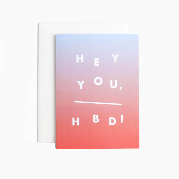 hey you greeting card