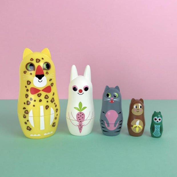 Omm Design Animal 3 Matryoshka with Ears