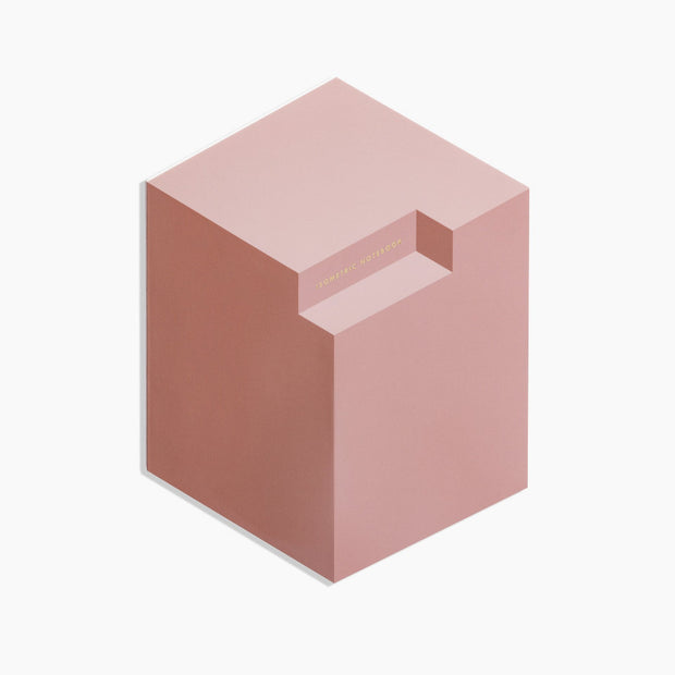 isometric notebook pink