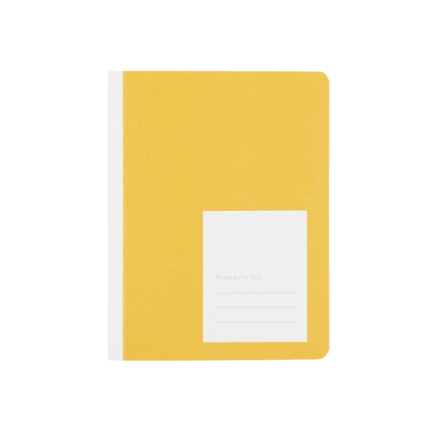 appointed kids canary yellow notebook