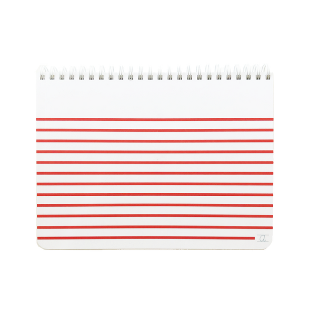 appointed kids sketchpad with red stripes
