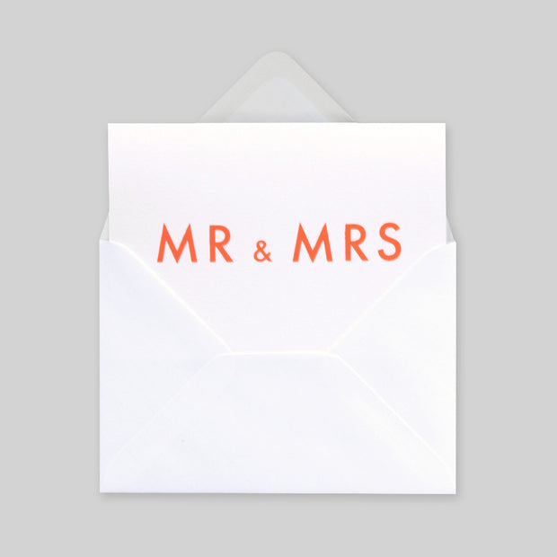 Ola Studio Foil Blocked Card - Mr & Mrs