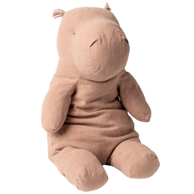 maileg soft hippo toy in pink