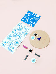 Moon Picnic wooden toy Make A Face game