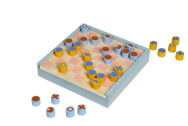MoMa 2-in-1 Chess & Checkers Set