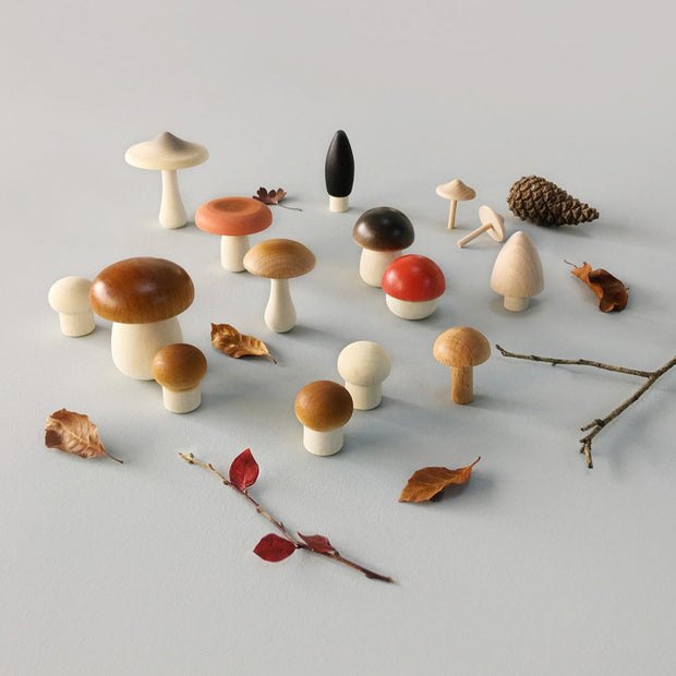 Moon Picnic Wooden Forest Mushrooms