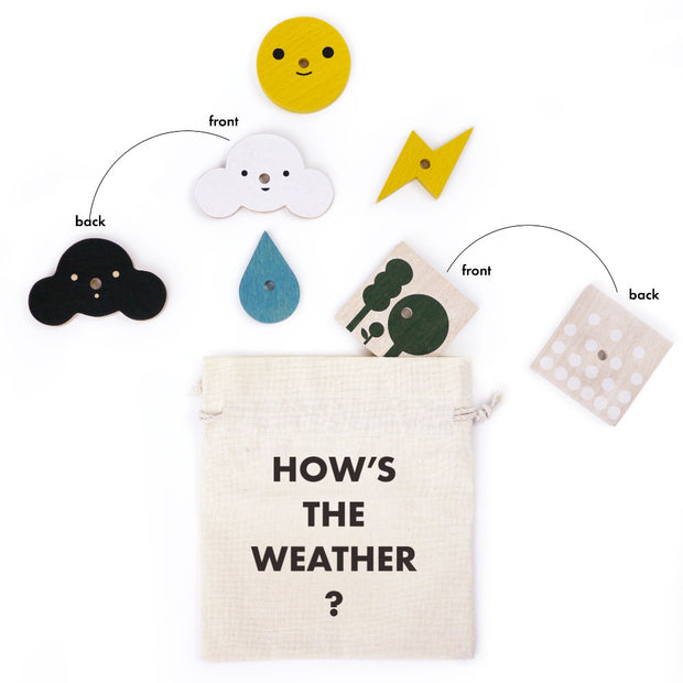 Moon Picnic The Weather Station wooden educational toy