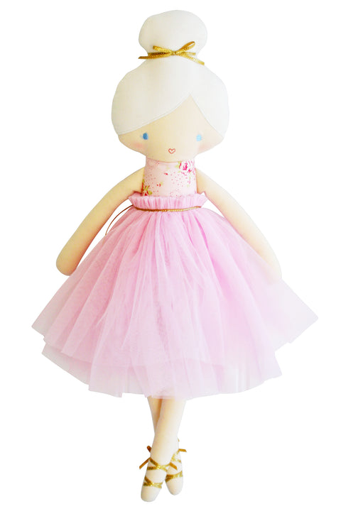 alimrose amelie soft ballet doll toy with removable pale pink tulle tutu