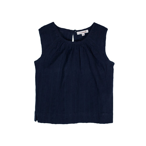 sunchild girls malawi sleeveless navy blue summer top