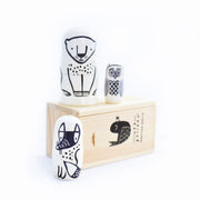 Wee Gallery Set of 3 Nesting Dolls Forest Friends wooden toy