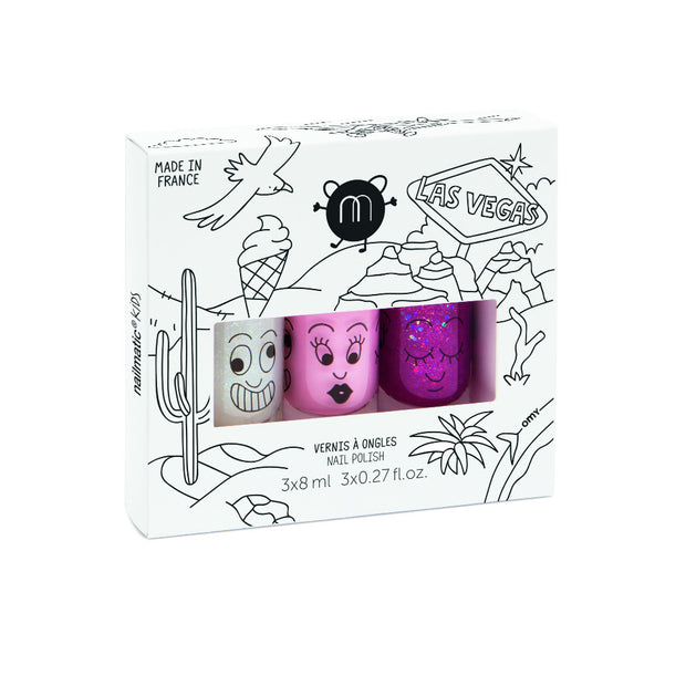 Nailmatic Kids Nail Polish Set of 3 - Las Vegas