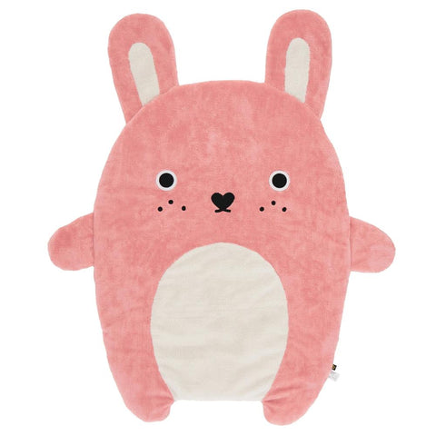 Noodoll baby or toddler Blanket / Playmat - Ricefluff pink rabbit