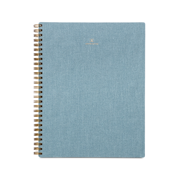 carnet de notes en bleu chambray