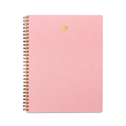 appointed notebook in pink with golden heart