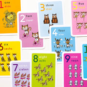Lil'Ollo Number Flash Cards - French or Spanish