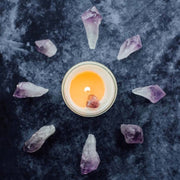 The Owl & The Apothecary Crystal amethyst Candle