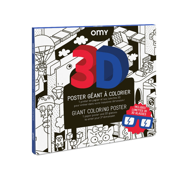 Omy Large Frameable Colouring Poster 3d computer game