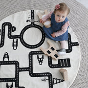 OOH NOO cotton Little Village road and streets Baby Play Mat