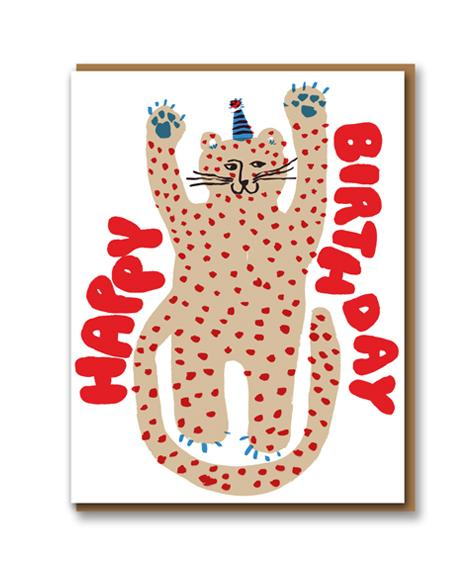 Egg Press Card - Party Cheetah Birthday