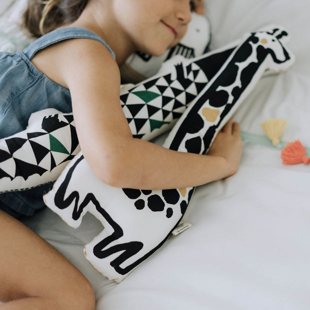 Wee Gallery Nursery Friends organic cotton Alligator Throw Pillow