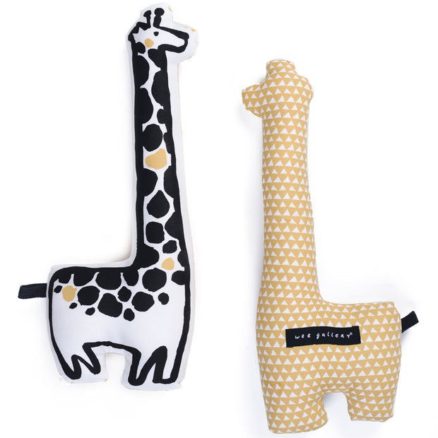 Wee Gallery Nursery Friends organic cotton Giraffe Throw Pillow
