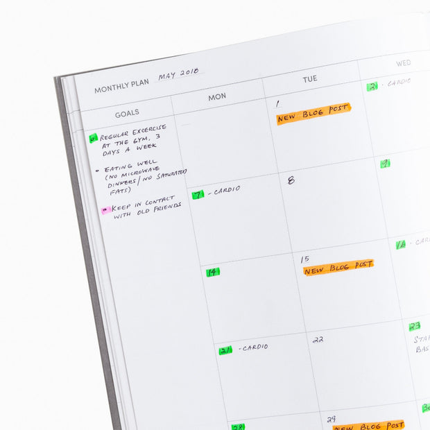 project planner monthly plan page