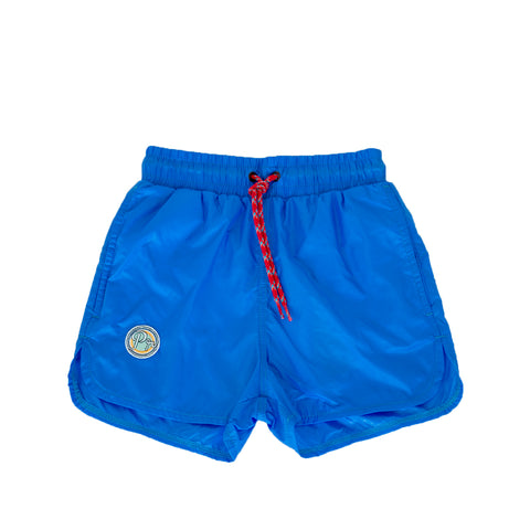 pacific rainbow boys Aaron electric blue swim shorts with drawstrings