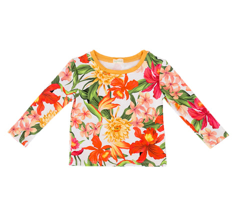 pacific rainbow girls April floral print rash vest