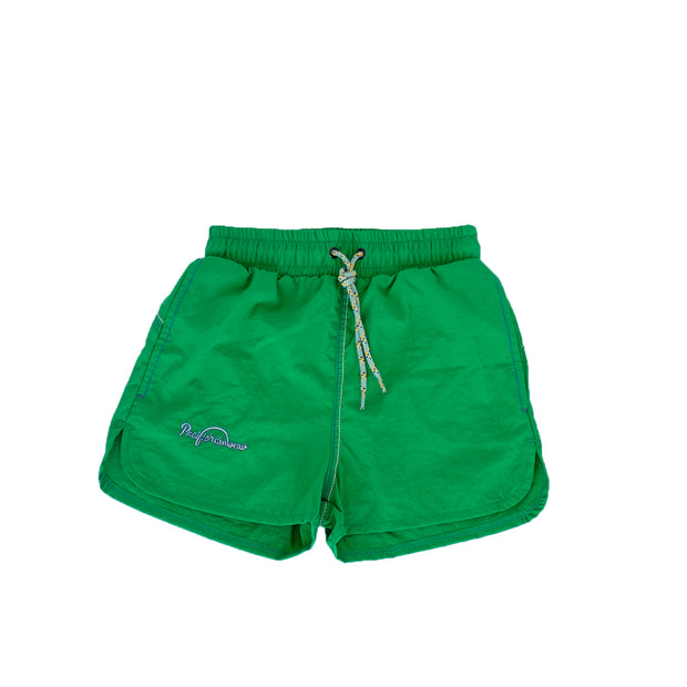 pacific rainbow boys Jim green shorts de bain avec cordons de serrage