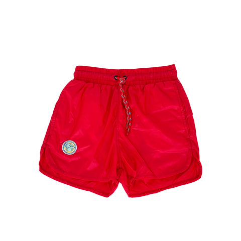 pacific rainbow boys Aaron red swim shorts with drawstrings