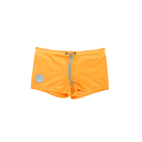 pacific rainbow boys kael yellow swim trunks with drawstrings