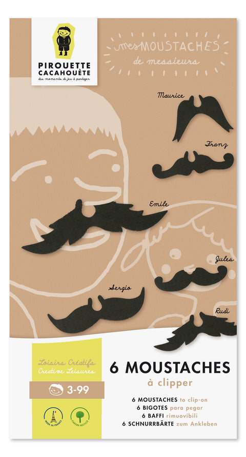 Pirouette Cacahouète Moustaches to Clip-on