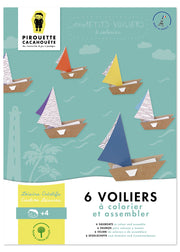 Pirouette Cacahouète Creative Kit - Sailboats