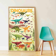 Poppik Discovery Sticker Poster - Dinosaurs