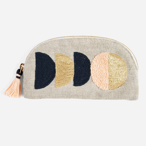 Printfresh Circe Small Embroidered Linen Pouch