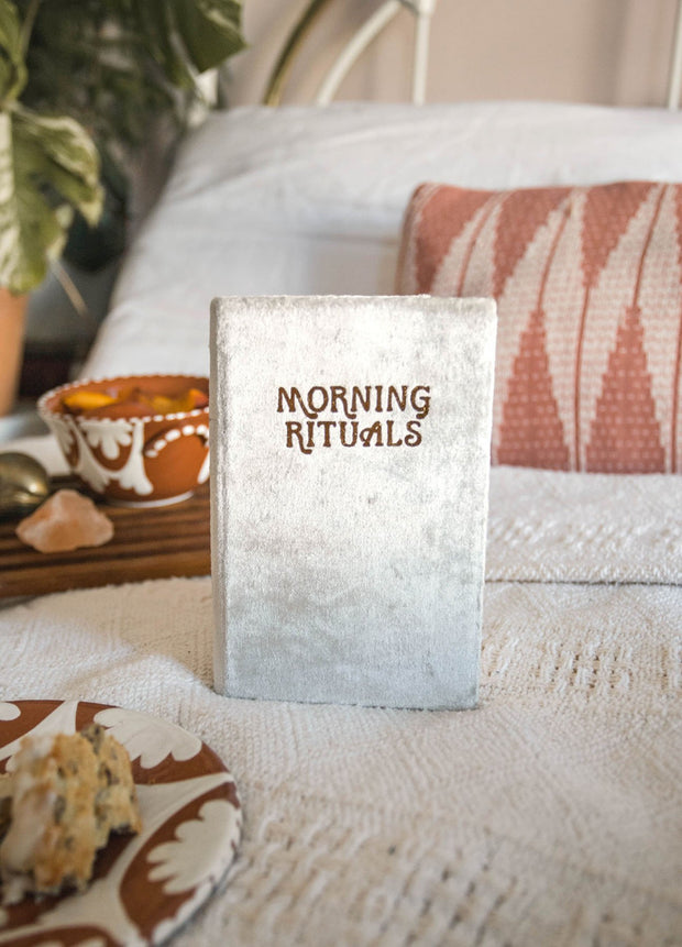 Printfresh Morning Rituals Mindfulness Journal en velours gris