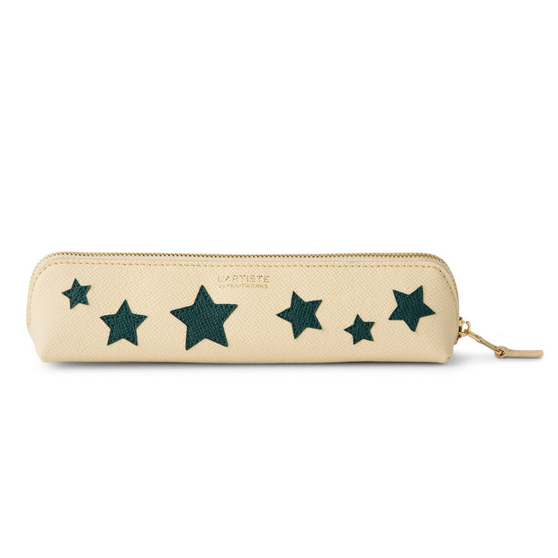 Printworks Small bluegreen Stars beige Pencil Case