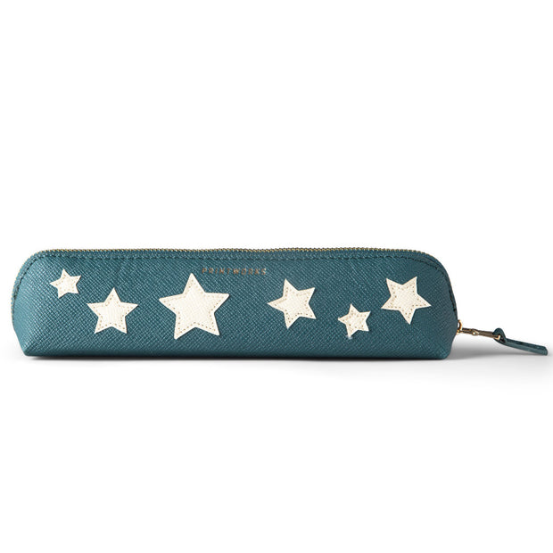 Printworks Small beige Stars bluegreen Pencil Case