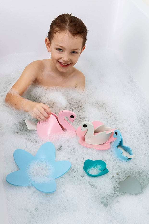Quut Build Your Own Bath Toys - Swan Lake