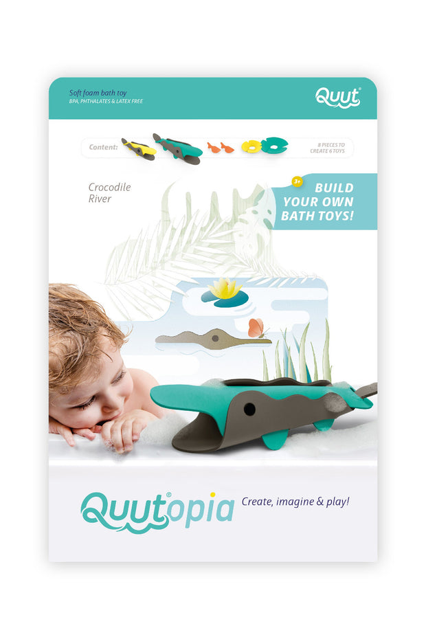 Quut Build Your Own Bath Toys - Crocodile River
