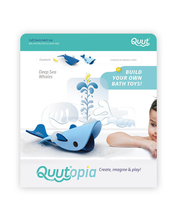 Quut Build Your Own Bath Toys - Deep Sea Whales