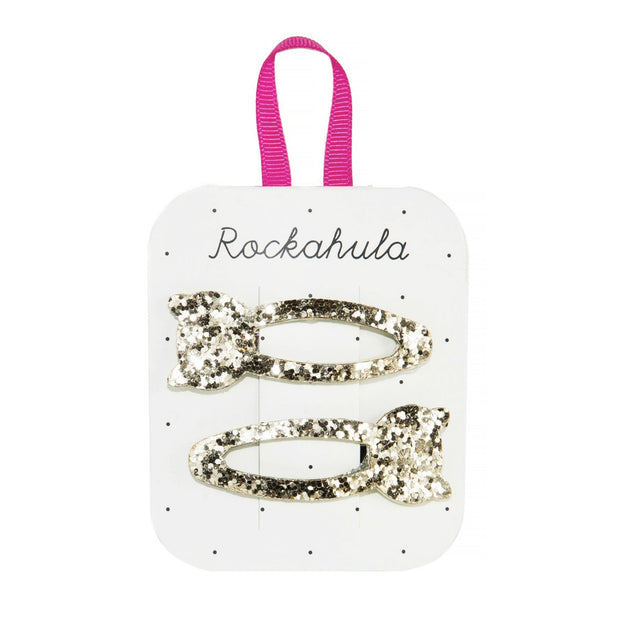Rockahula Glitter Cat Snap Clips