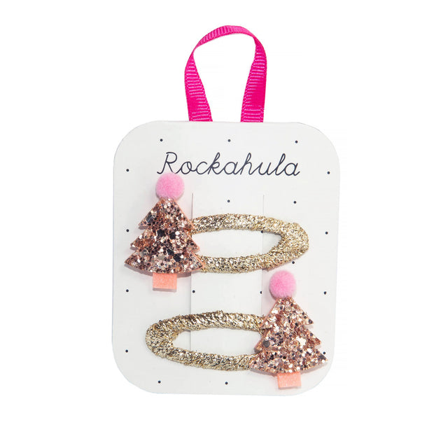 Rockahula Rose Gold Xmas Tree Clips