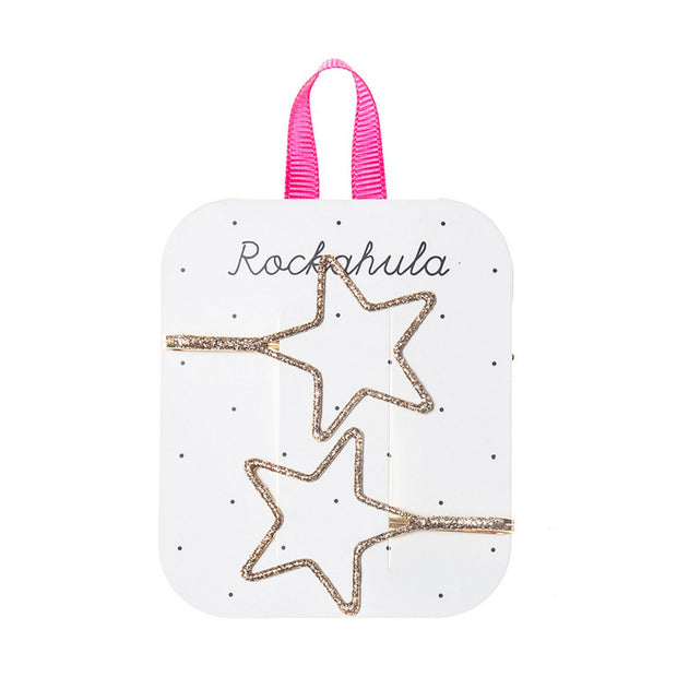 Rockahula Starry Cut Out Glitter Slides Gold