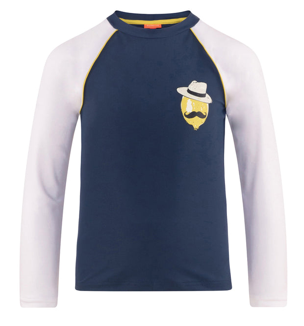 sunuva boys sicilian lemon navy rash vest
