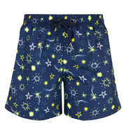 sunuva boys neon star print swim shorts with drawstrings