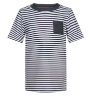 sunuva boys grey white stripy rash vest with pocket and short sleeves