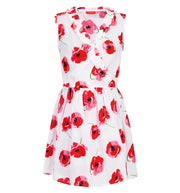 sunuva girls red poppy summer cotton wrap dress