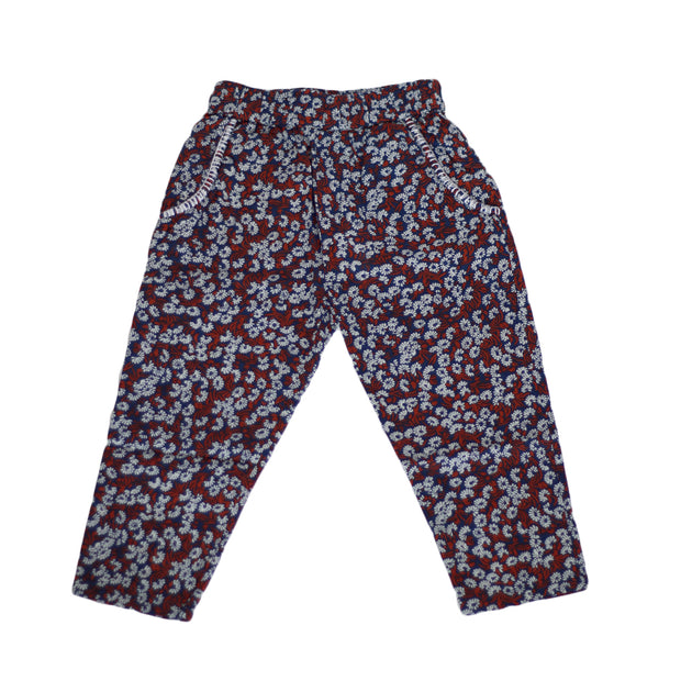 sunchild girls spirit floral print cotton trousers